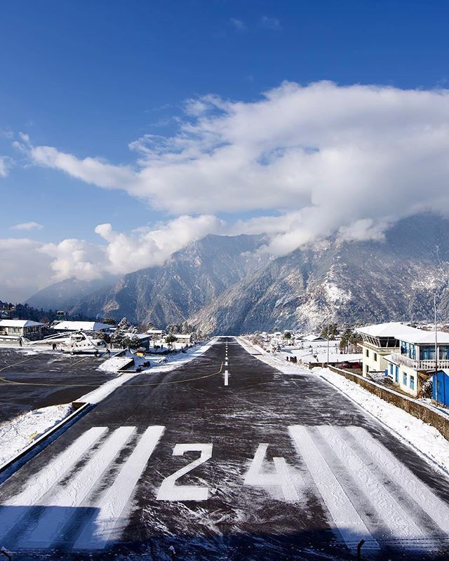 Lukla Airport in Everest Himalayas