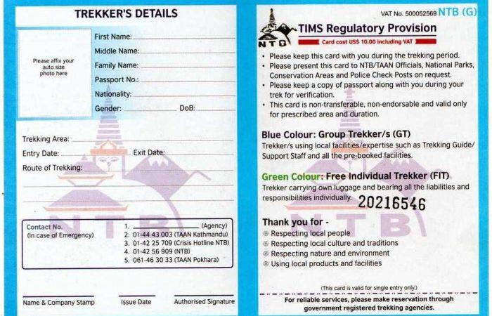 Nepal Trekking Permit Information