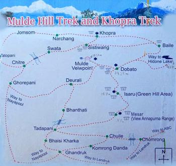 Mulde Hill Trekking Map